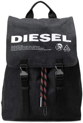 Diesel denim backpack with print