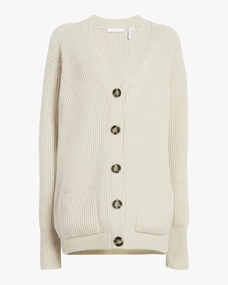 Helmut Lang Long Sleeve Distressed Sweater