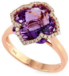 Effy Amethyst and 0.2 TCW Ring