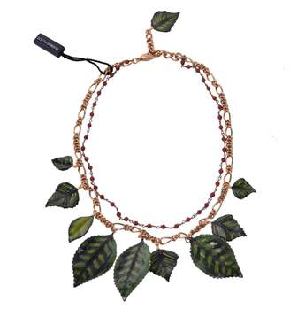Dolce & Gabbana Green Metal Necklace