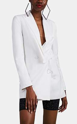 Area Women's Embellished Double-Breasted Blazer - White
