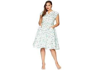 Unique Vintage Plus Size Hedda Swing Dress