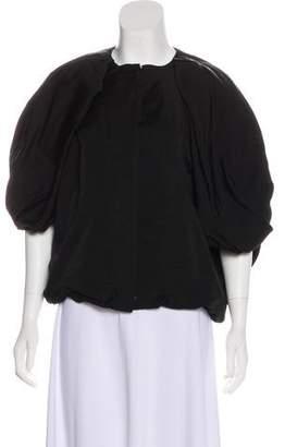 Lanvin Silk Zip-Up Cardigan
