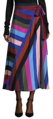 Diane von Furstenberg Silk Wrap Skirt