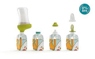 Babymoov Foodii Starter Kit with Reusable Pouches