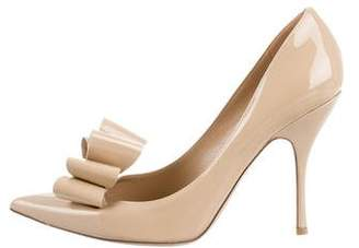 Valentino Bow Patent Leather Pumps