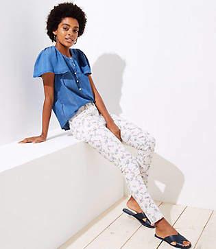 LOFT Modern Floral Skinny Jeans