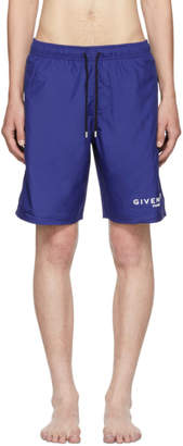 Givenchy Blue Logo Swim Shorts