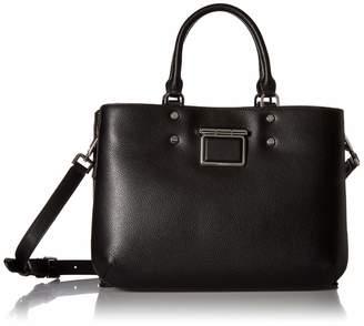 Calvin Klein Dani Hermine Leather Triple Compartment Satchel
