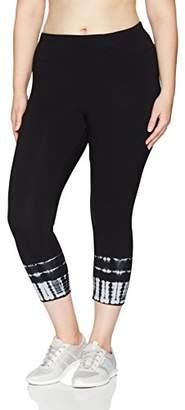 Calvin Klein Women's Plus Size Control Waistband Capri Legging