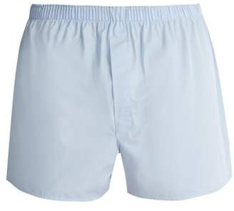 Sunspel Classic Cotton Boxer Shorts - Mens - Blue