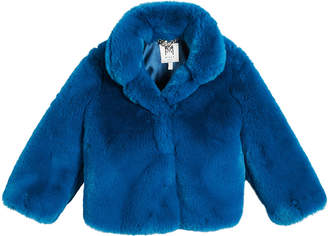 Milly Minis Faux Fur Jacket, Size 4-7