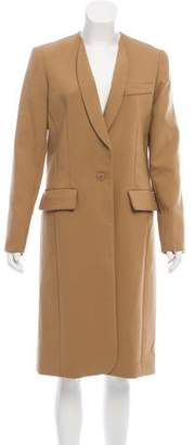 Smythe Collarless Long Coat