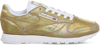 Reebok Classic metallic-leather trainers $69 thestylecure.com