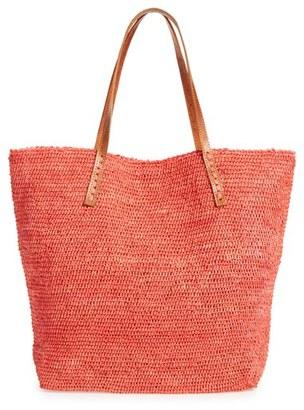 Mar Y Sol 'Portland' Packable Raffia Tote - Coral $139 thestylecure.com