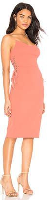 1 STATE Lace Up Slip Midi Dress