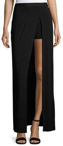Haute HippieHaute Hippie Slayer Jersey Slit Maxi Skirt, Black