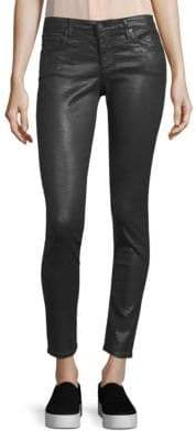 AG Adriano Goldschmied Leatherette Crinkle Coated Ankle Leggings