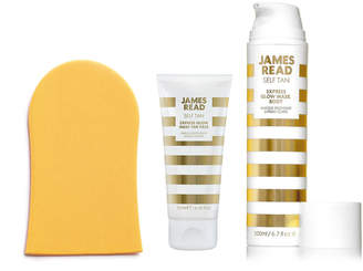 Express James Read Glow Mask Face & Body Set with Tanning Mitt