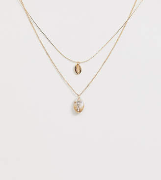 ef64d6d3487 Aldo Cithralith embellished shell layering necklace