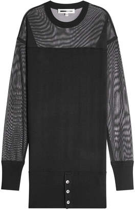 McQ Wool Dress with Mesh Sleeves