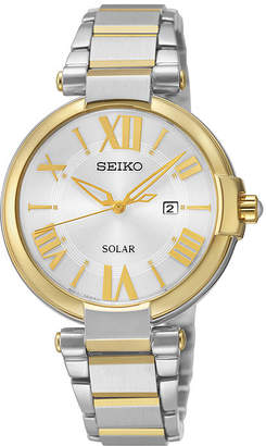 Seiko Recraft Womens Two-Tone Solar Dress Watch SUT174