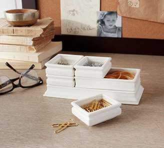 Pottery Barn Stacking Boxes Desk Organizer