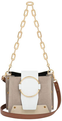 Yuzefi Limited Delila Leather/Suede Ring Bucket Bag