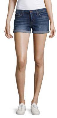 Genna Rolled Denim Shorts $128 thestylecure.com