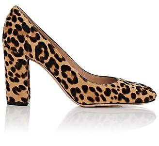 Gianvito Rossi Women's Leopard-Print Calf Hair Pumps - Beige, Tan