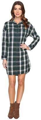 Alternative Yarn-Dye Flannel Timberwood Shirtdress Women's Dress
