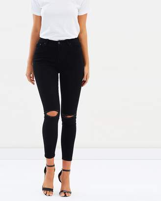 Atmos & Here ICONIC EXCLUSIVE - Miami Ripped Knee Skinny Jeans