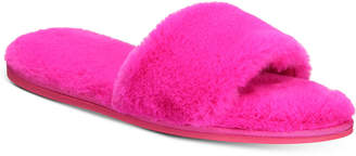 INC International Concepts I.n.c. Women's Faux-Fur Slide Slippers