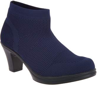 Bernie Mev. Stretch Knit Heeled Ankle Boots - Doll