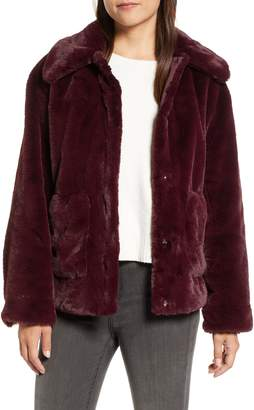 Trina Turk Salma Faux Fur Jacket