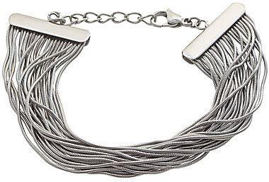 JCPenney Stainless Steel Multi Snake Chain Bracelet