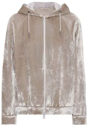 Brunello Cucinelli Velvet track jacket