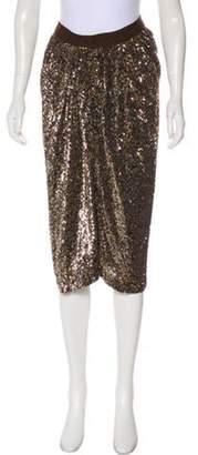 Reem Acra Sequined Knee-Length Skirt Sequined Knee-Length Skirt