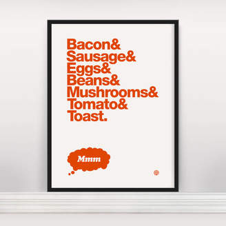 Anthony Logistics For Men Oram 'The Perfect Breakfast' Open Edition Screen Print