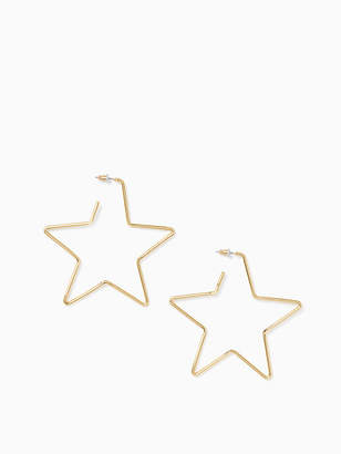 Kate Spade Scrunched scallops star large hoops