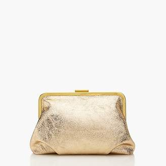 J.Crew Frame clutch in gold leather