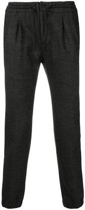 Incotex textured elasticated waist trousers