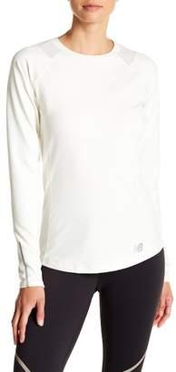 New Balance Long Sleeve Shoulder Mesh Top