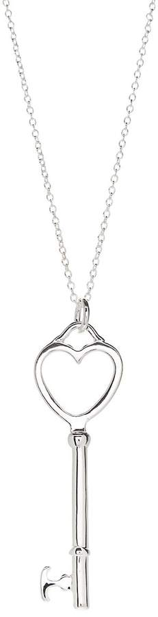 Silver-Plated Key To My Heart Pendant Necklace