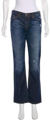 Just Cavalli Distressed Mid-Rise Jeans