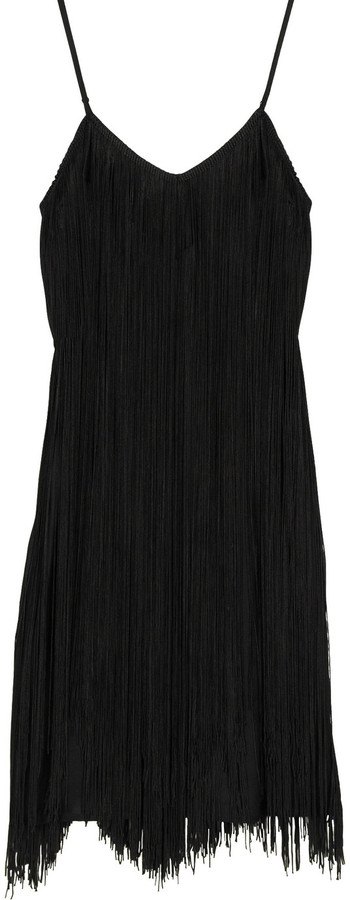 12th Street by Cynthia Vincent Moonstone fringed mini dress