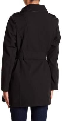 Via Spiga Belted Asymmetrical Moto Coat (Petite)