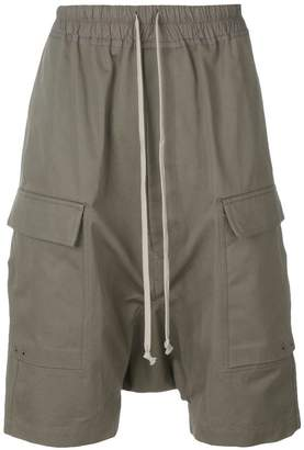 Rick Owens drop-crotch pocket shorts