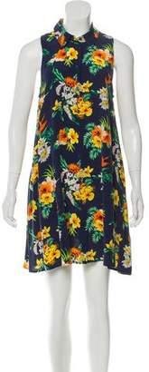 Equipment Floral Print Silk Shirtdress