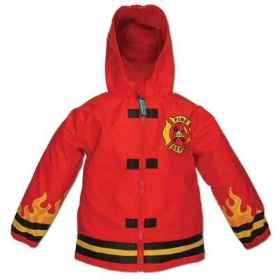 Fire Truck Raincoat in Red
